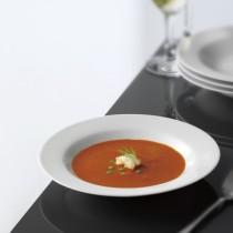 Hvid Tallerken, Suppe, 6 stk.