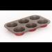 Muffinsform, 6 huller, Keramisk